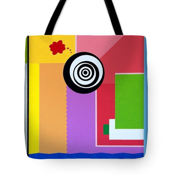 Tote Bag featuring the painting Mid Century Conflict by Thomas Gronowski