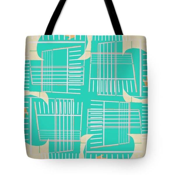 Mid-century Design Aqua Tote Bag
