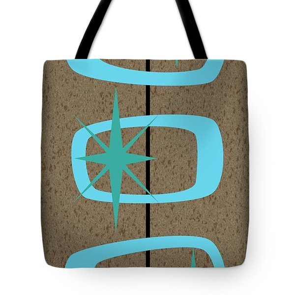 Tote Bag featuring the digital art Mid Century Modern Shapes 1 by Donna Mibus
