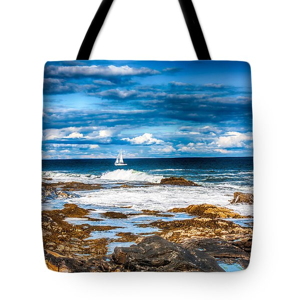 Midday Sail Tote Bag by Fred Larson