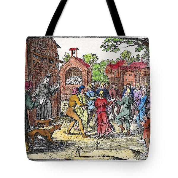 Middle Ages Dancing Mania Tote Bag by Granger