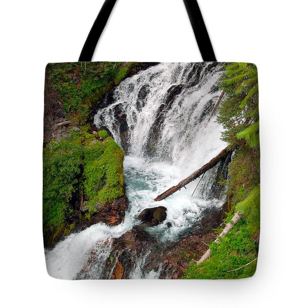 Middle Of Red Blanket Falls Tote Bag by Teri Schuster