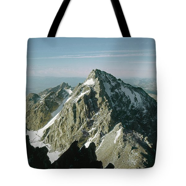 Tote Bag featuring the photograph T-209207-middle Teton From Grand Teton by Ed  Cooper Photography