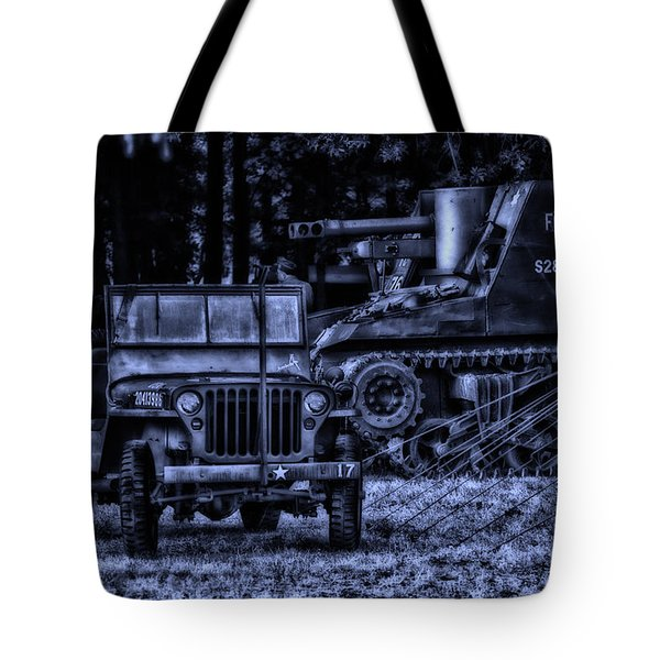 Midnight Battle And All Is Quite On The Front Lines Tote Bag by Thomas Woolworth