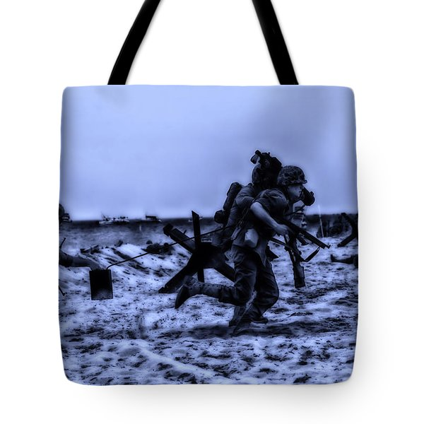 Midnight Battle Stay Close Tote Bag by Thomas Woolworth