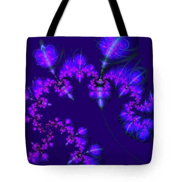 Tote Bag featuring the digital art Midnight Blossoms by Judi Suni Hall