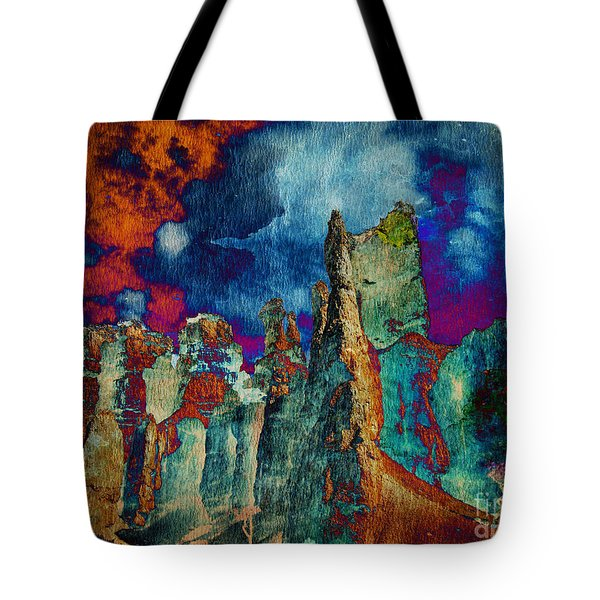 Midnight Fires Tote Bag
