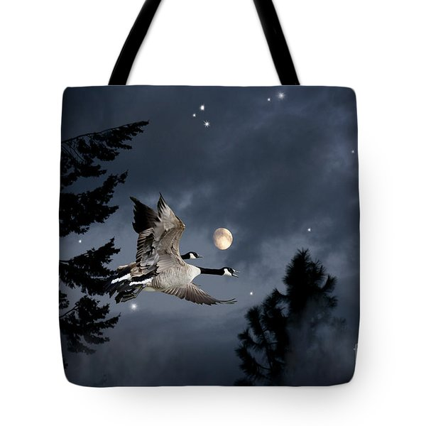 Midnight Flight Tote Bag