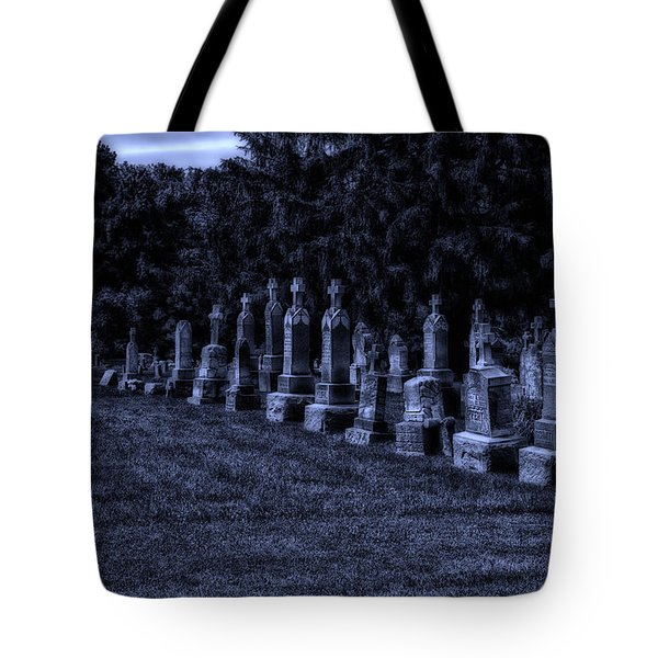 Midnight In The Garden Of Stones Tote Bag by Thomas Woolworth