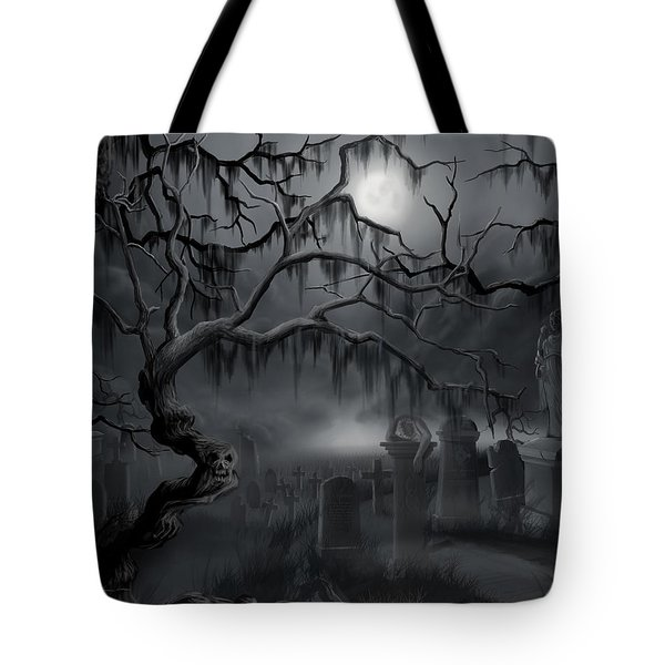 Midnight In The Graveyard  Tote Bag by James Christopher Hill