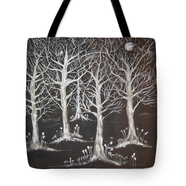 Midnight Mystery Forest Tote Bag