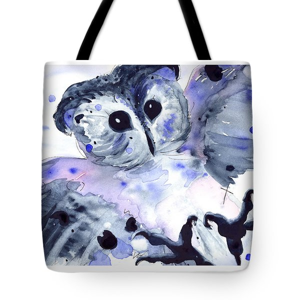 Midnight Owl Tote Bag by Dawn Derman