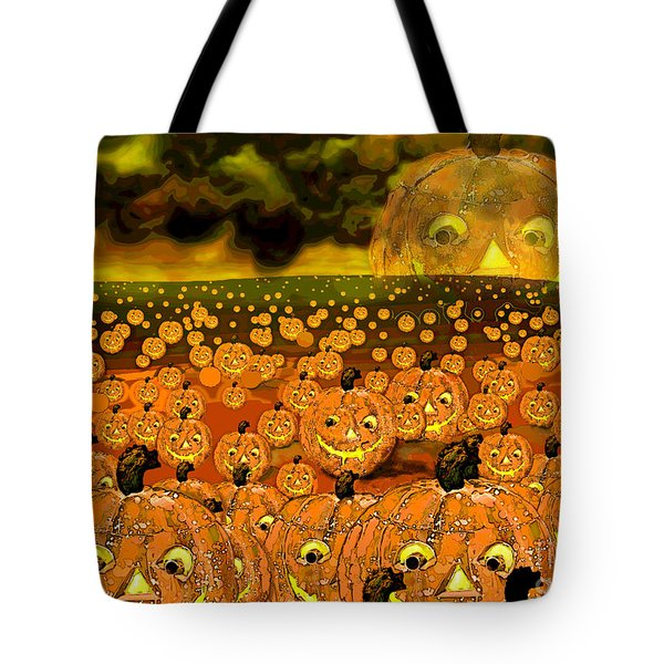 Midnight Pumpkin Patch Tote Bag by Carol Jacobs