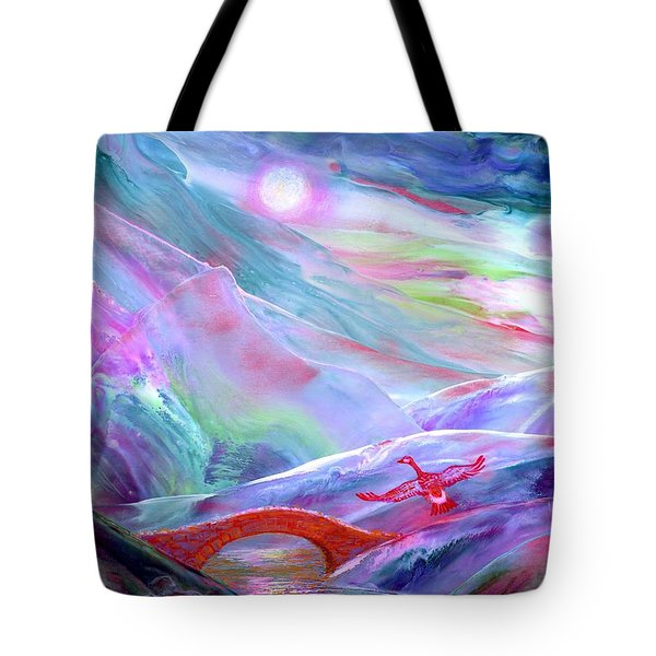 Midnight Silence, Flying Goose Tote Bag