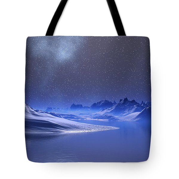 Midnight Snow Tote Bag