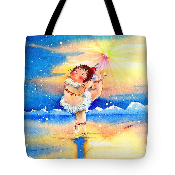 Midnight Sun Figure Skater Tote Bag