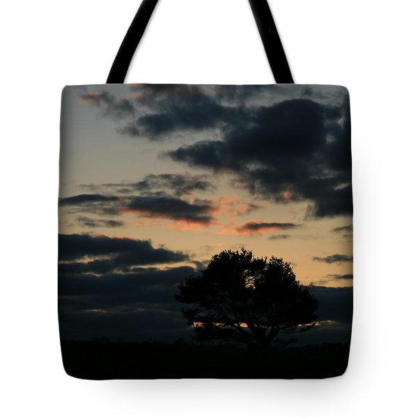 Farm Pasture Midnight Sun  Tote Bag by Neal Eslinger