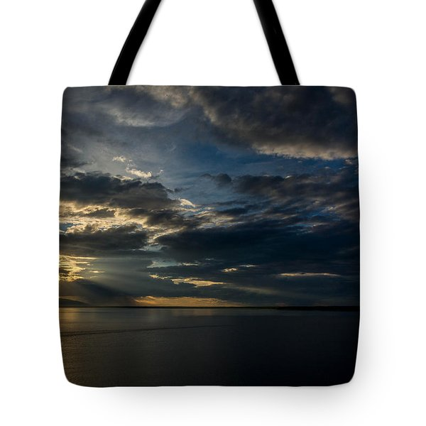 Midnight Sun Over Cook Inlet Tote Bag by Andrew Matwijec