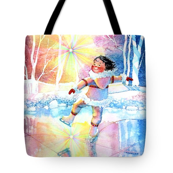 Midnight Sun Skating Fun Tote Bag