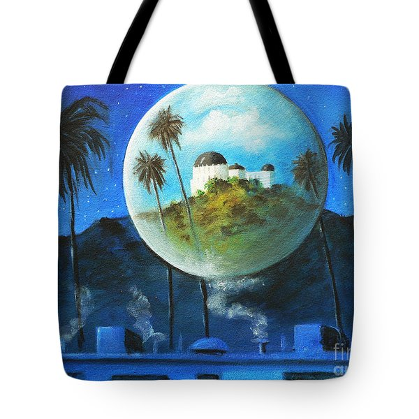Tote Bag featuring the painting Midnights Dream In Los Feliz by S G