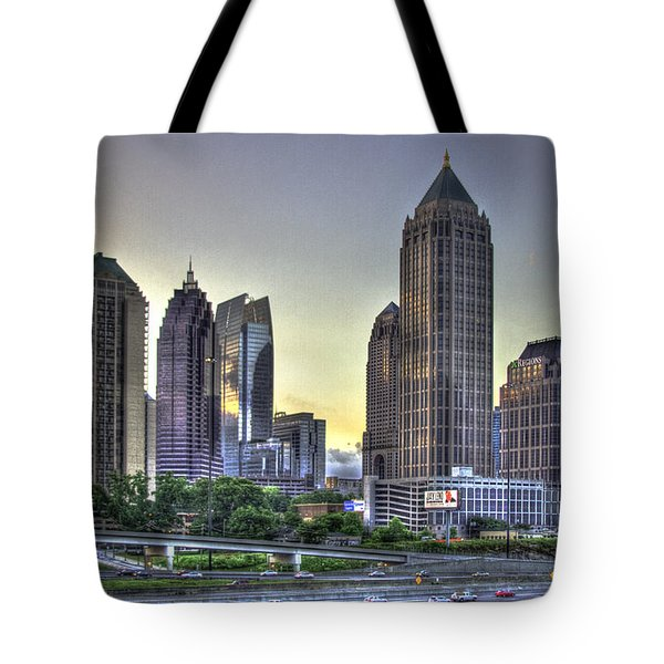 Midtown Atlanta Sunrise Tote Bag