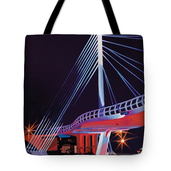 Tote Bag featuring the painting Midtown Greenway Sabo Bridge by Jude Labuszewski