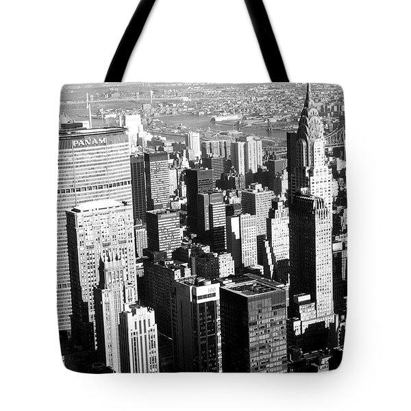 Midtown Manhattan 1972 Tote Bag by Steve Archbold