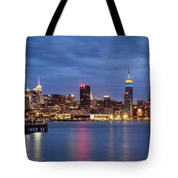 Tote Bag featuring the photograph Midtown Manhattan by Mihai Andritoiu