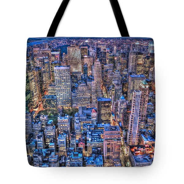 Midtown Manhattan Skyline Tote Bag by Randy Aveille