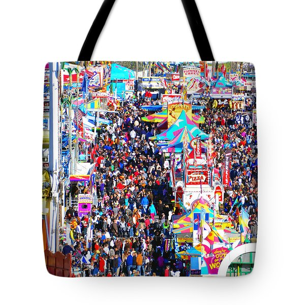 Midway Crowd Tote Bag by David Lee Thompson