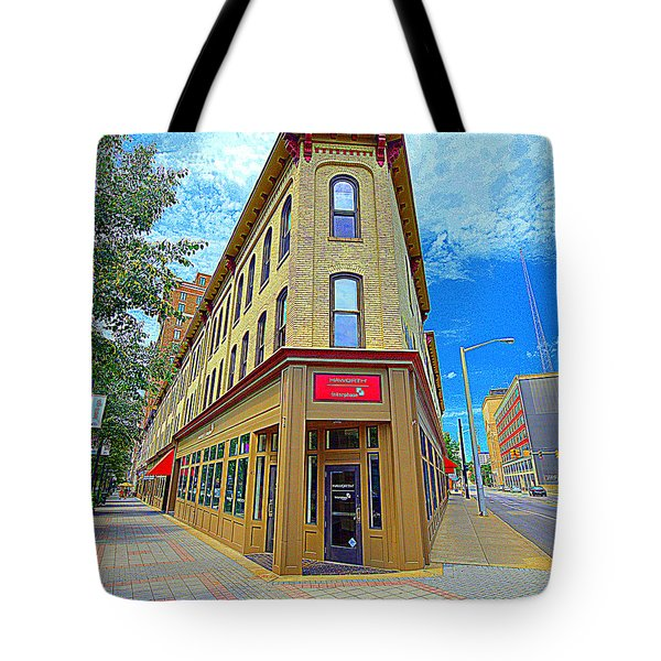 Midwest Flat Iron Building Tote Bag by Garry Schmidt