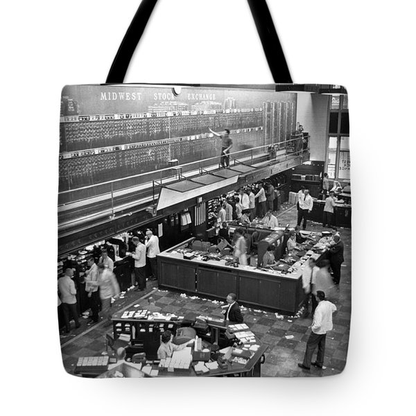 Midwest Stock Exchange Tote Bag by Underwood Archives