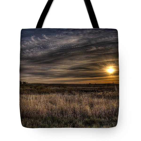 Midwest Sunrise Tote Bag by Jeff Burton