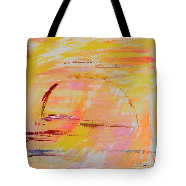 Tote Bag featuring the painting Midwest Sunrise by PainterArtist FIN