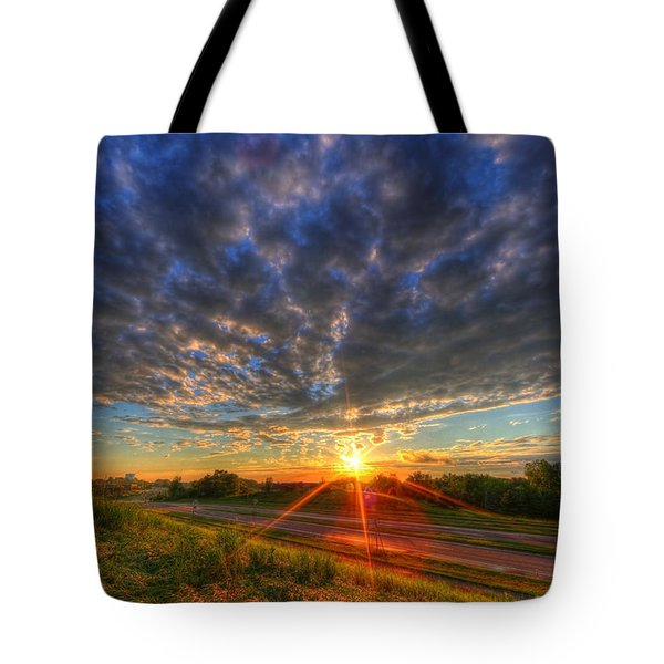 Midwest Sunset After A Storm Tote Bag