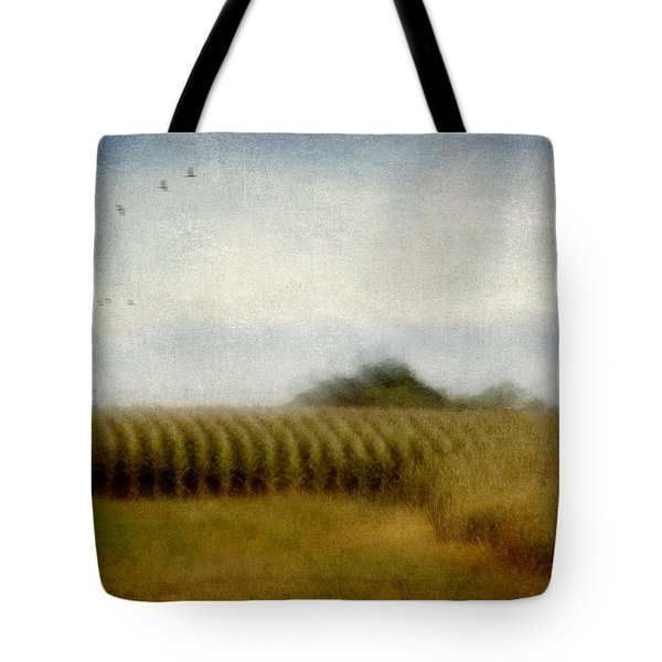 Midwestern Drive-by Corn Fields Tote Bag