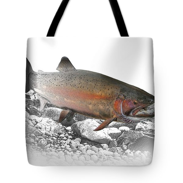 Migrating Steelhead Rainbow Trout Tote Bag by Randall Nyhof