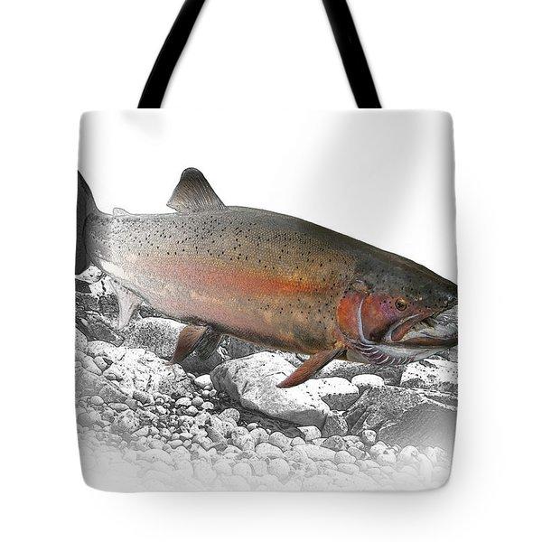 Migrating Steelhead Rainbow Trout Tote Bag