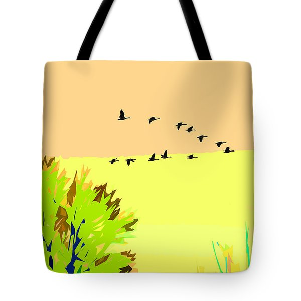 Migration 4 Tote Bag by John Freidenberg