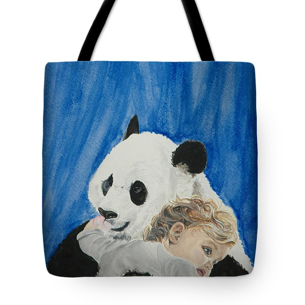 Mika And Panda Tote Bag