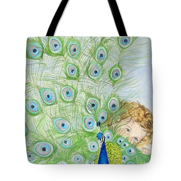 Mika And Peacock Tote Bag