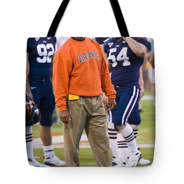 Mike London University Of Virginia Football Tote Bag by Jason O Watson