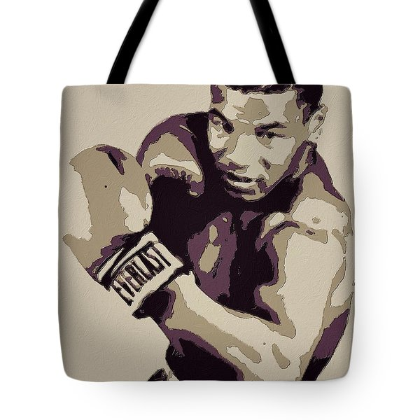 Mike Tyson Poster Art Tote Bag by Florian Rodarte