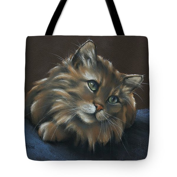 Tote Bag featuring the drawing Miko by Cynthia House