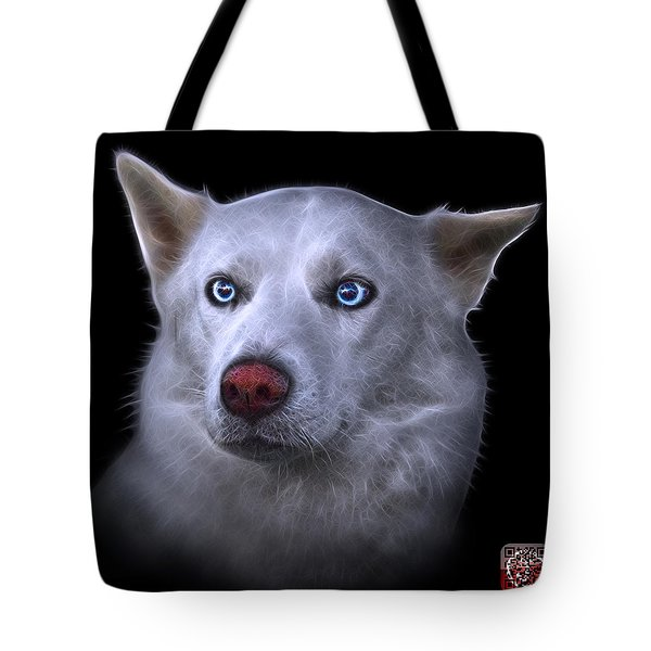 Tote Bag featuring the painting Mila - Siberian Husky - 2103 - Bb by James Ahn