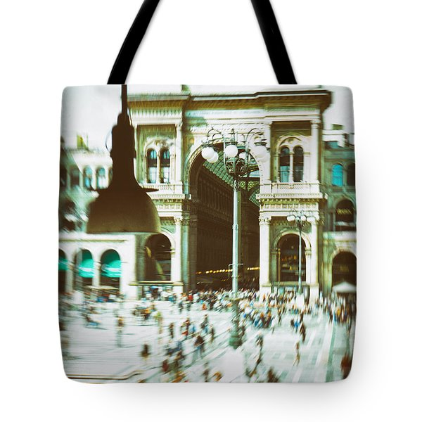 Tote Bag featuring the photograph Milan Gallery by Silvia Ganora