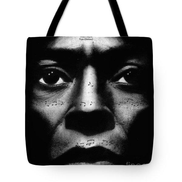 Miles Davis Tutu Tote Bag by Michael Cross