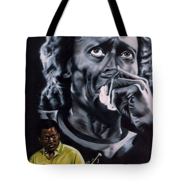 Miles Davis Jazz King Tote Bag