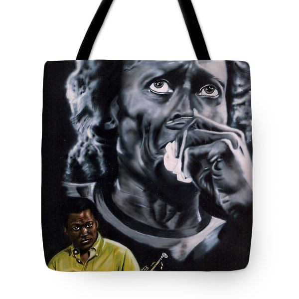 Tote Bag featuring the painting More Miles Of Davis by Thomas J Herring