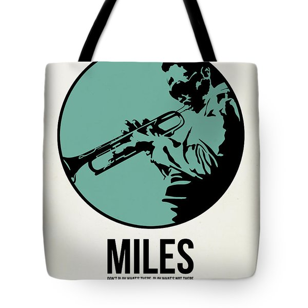Miles Poster 1 Tote Bag by Naxart Studio